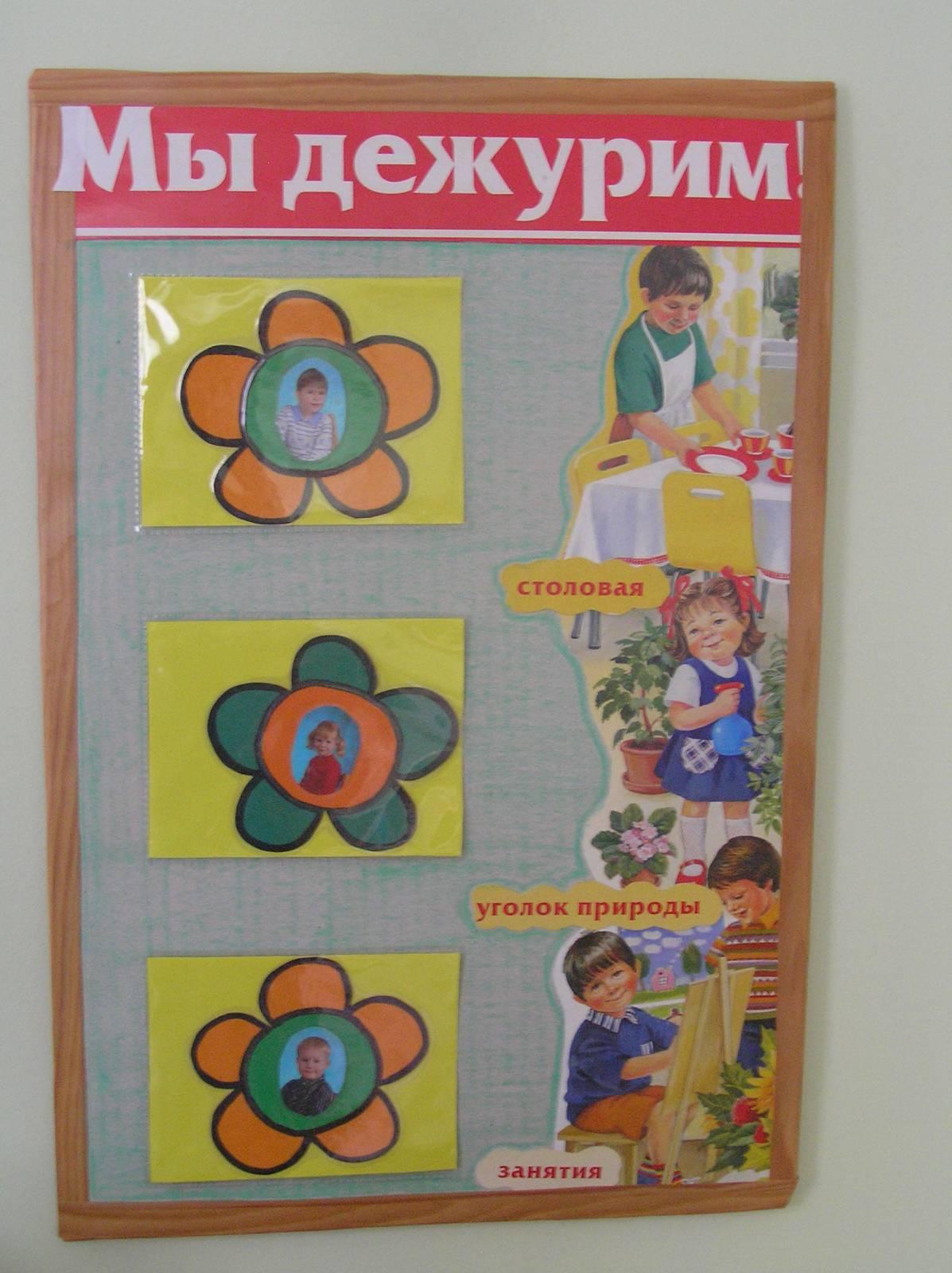 Уголок дежурный в детском саду своими руками